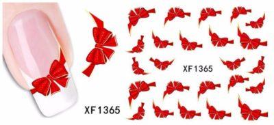 Наклейки для ногтей «Красные бантики» — 0,7 у.е.